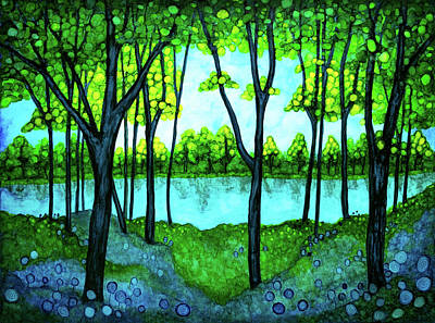 Painting - Tranquil Forest by Jennifer Allison