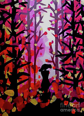 Woman In Shower Painting - Tranquil Forest by Jilian Cramb - AMothersFineArt