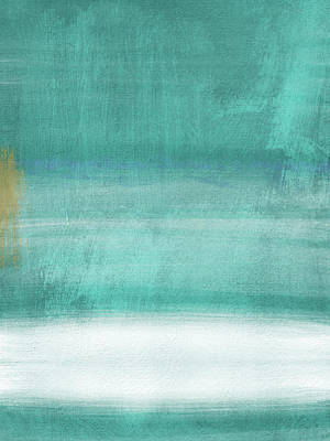 Color Block Mixed Media - Tranquil Horizon- Art By Linda Woods by Linda Woods