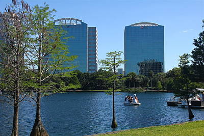Photograph - Tranquil Lake Eola by Denise Mazzocco
