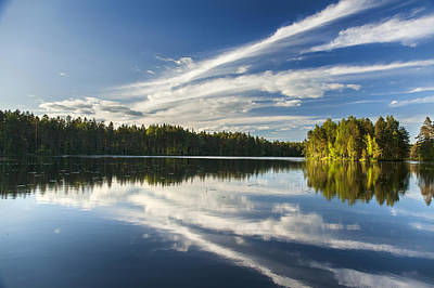 Finland Photograph - Tranquil Lake In Finland by Sandra Rugina