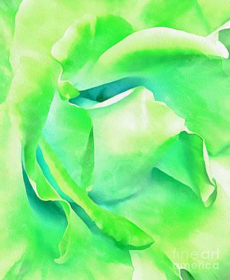 Abstract Digital Photograph - Tranquil Petals by Krissy Katsimbras
