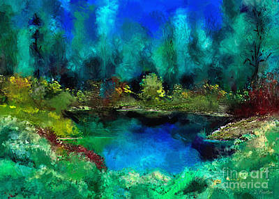 Digital Art - Tranquil Pond by Dee Flouton