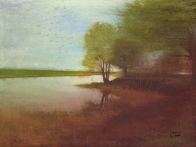 Landscapes Mixed Media - Tranquil Retreat by Colleen Taylor