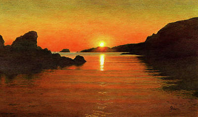 Abstract Graphics - Tranquil Summer Sunset by John Birnie