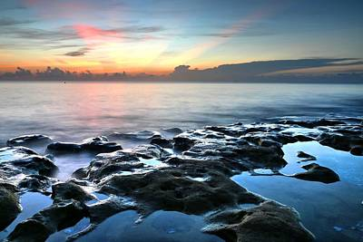 Photograph - Tranquil Sunrise At Coral Cove Beach by Carol Montoya