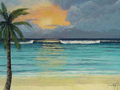 Tranquil Sunset Art Print by Barbara Keel