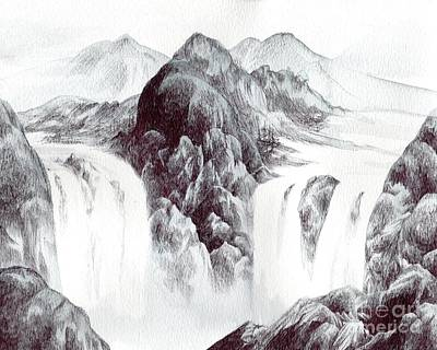 Drawing - Tranquil Thunder by Alice Chen