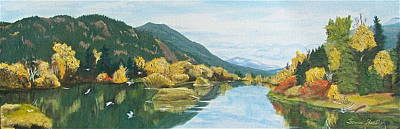Art Print featuring the painting Tranquil Waters by Bonnie Heather