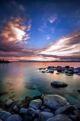 Digital Image Photograph - Tranquil Waters by Steve Baranek