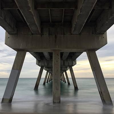 Photograph - Tranquile Pier by Juan Montalvo