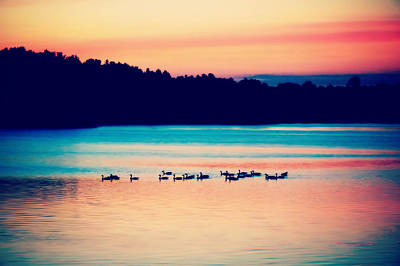 Photograph - Tranquility After Sunset by Lilia D
