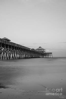 Tranquility At Folly Grayscale Art Print