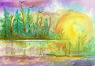 Painting - Tranquility At Sunrise  by Ellen Levinson