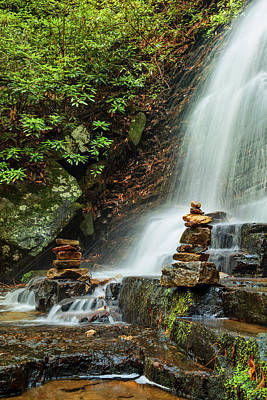 Photograph - Tranquility At The Waterfall by Debra and Dave Vanderlaan