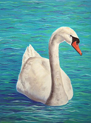 Swans Painting - Tranquility by Elizabeth Lock