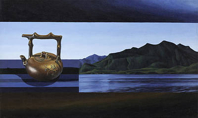 Teapot Painting - Tranquility In A Teapot by Jana MacDonald