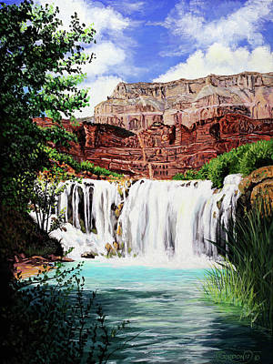 Painting - Tranquility In The Canyon by Timithy L Gordon