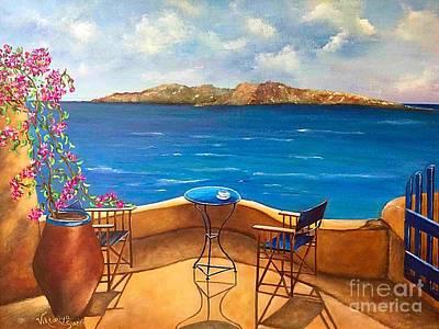 Tranquility Of Santorini Original