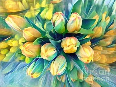 Photograph - Tranquility Of Spring - Yellow Tulips by Miriam Danar