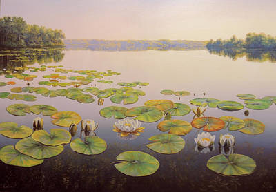 Wall Art - Painting - Tranquility by Oleg Riabchuk
