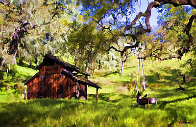 Barn Digital Art - Tranquility by Patricia Stalter
