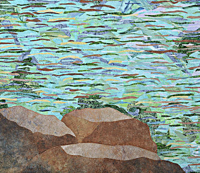 Wall Art - Tapestry - Textile - Tranquility by Pauline Barrett