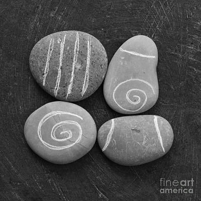 Mixed Media Royalty Free Images - Tranquility Stones Royalty-Free Image by Linda Woods