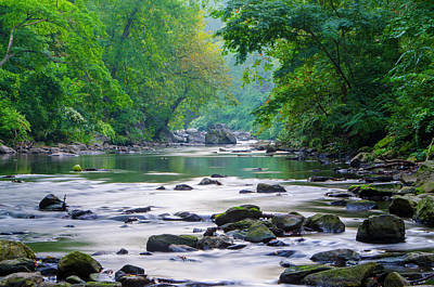 Photograph - Tranquility - Wissahickon Creek by Bill Cannon