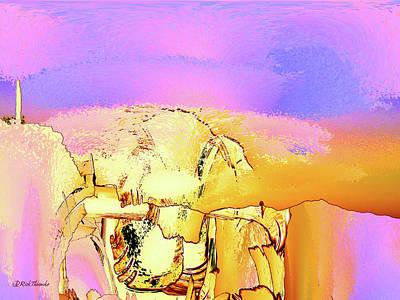 Mixed Media - Tranquilo Atardecer by Rick Thiemke