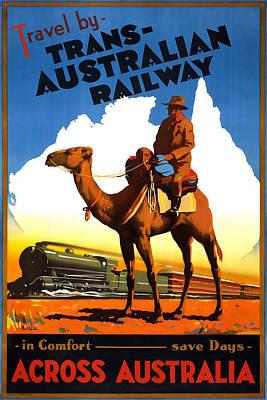 Trans Australian Railway Art Print