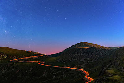Photograph - Transalpina By Night by Mihai Andritoiu