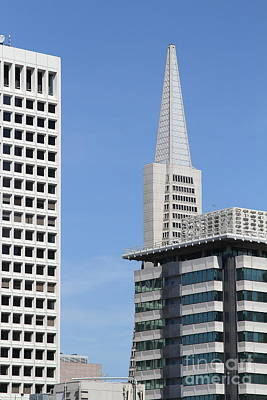 Photograph - Transamerica Building Tower In San Francisco Skyline San Francisco California 7d7492 by San Francisco Art and Photography