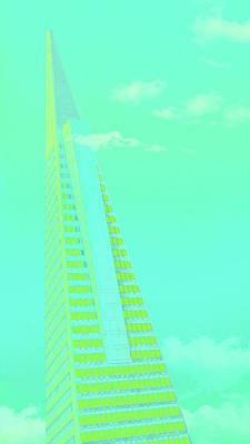 Surrealism Royalty-Free and Rights-Managed Images - Transamerica Pyramid Building Surreal San Francisco California 1 by Kathy Anselmo