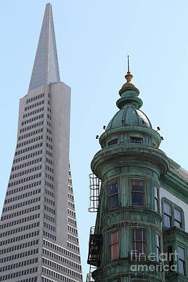 Photograph - Transamerica Pyramid From North Beach San Francisco California 7d7433 by San Francisco Art and Photography