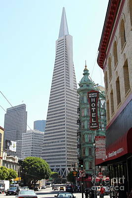 Photograph - Transamerica Pyramid From North Beach San Francisco California 7d7434 by San Francisco