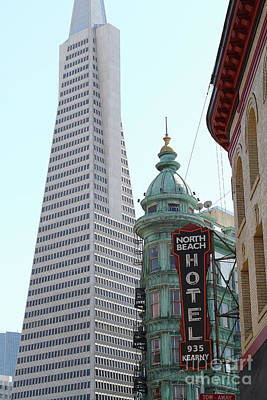 Photograph - Transamerica Pyramid From North Beach San Francisco California 7d7435 by San Francisco Art and Photography