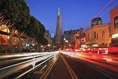 Transamerica Pyramid Art Print by Sean Duan