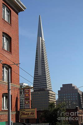 Photograph - Transamerica Pyramid Tower In San Francisco California 7d7376 by San Francisco Art and Photography