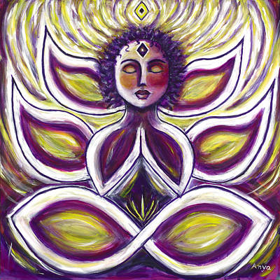 Art Print featuring the painting Transcendence by Anya Heller