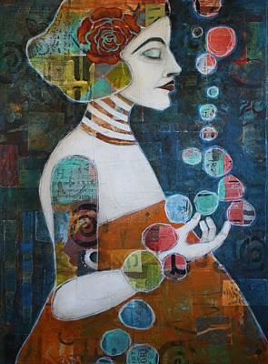 Portrait Mixed Media Painting - Transcendence by Jane Spakowsky