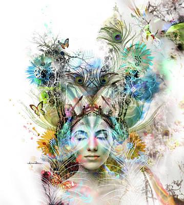 Spiritual Portrait Of Woman Digital Art - Transcendence by Misprint