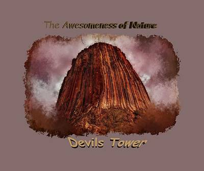 Photograph - Transcendent Devils Tower 2 by John M Bailey