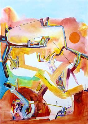 Painting - Transcendental Decision by Rojo Chispas