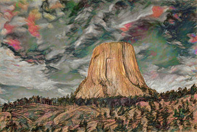 Transcendental Devils Tower Art Print