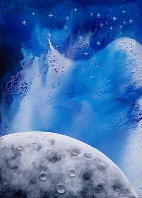 Transcendental Moon Art Print by Lee Pantas