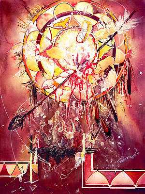 Painting - Transcending Indian Spirit by Connie Williams