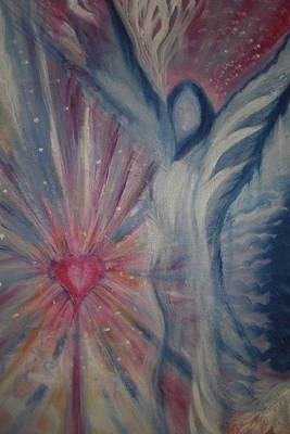 Chakra Painting - Transending Heart Consciousness by Margo Callaghan