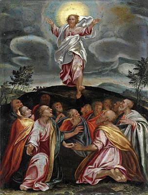 Transfiguration Painting - Transfiguration by Circle of Girolamo Muziano