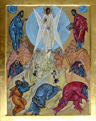 Greek Icon Painting - Transfiguration by Filip Mihail